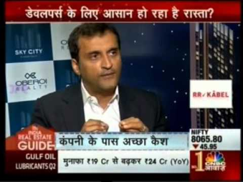CNBC Awaaz – Interview with Mr. Vikas Oberoi , CMD , Oberoi Realty - 31st Oct' 15