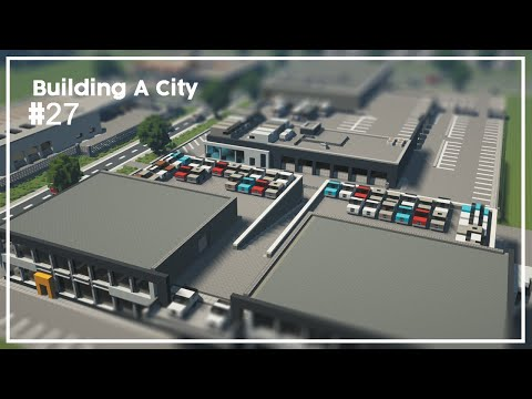 Building A City #27 // Car Dealers // Minecraft Timelapse