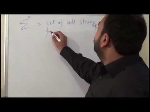 L1 Automata Theory, Basic Notations of Automata Theory