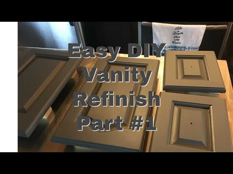 Step By Step How To Refinish A Bathroom Vanity Using Rustoleum Transformation Kit