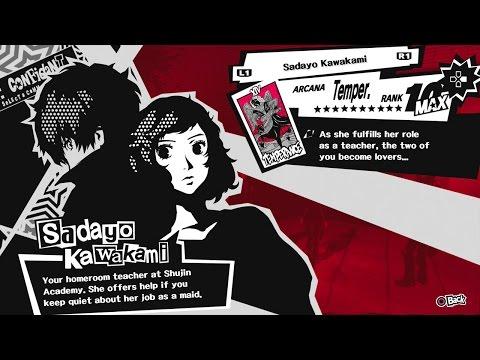Persona 5 Ps4 Max Confidant Rank Guide For Temperance Arcana Sadayo Kawakami Lovers Route