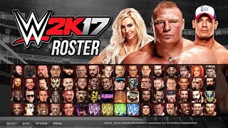 FULL ROSTER WWE2K17 - PS3/Xbox360
