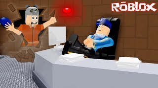 Escape from Sleeping Police Prison!! - Roblox Escape The Prison Obby with Panda!