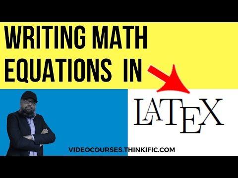 Writing Math Equations In Latex [Latex Tutorial]