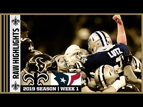 Saints vs Texans Raw On-Field Highlights | 2019 NFL Week 1 | New Orleans Saints