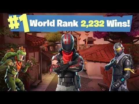 #1 WORLD RANKED FORTNITE SOLO PLAYER  - 2,232 SOLO WINS - 1,042/1,100 Sponsor Goal