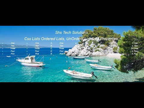 Css Lists   Css And Html Lists   Ordered & UnOrdered Lists Creation Using Html Css  Css Tutorials-23