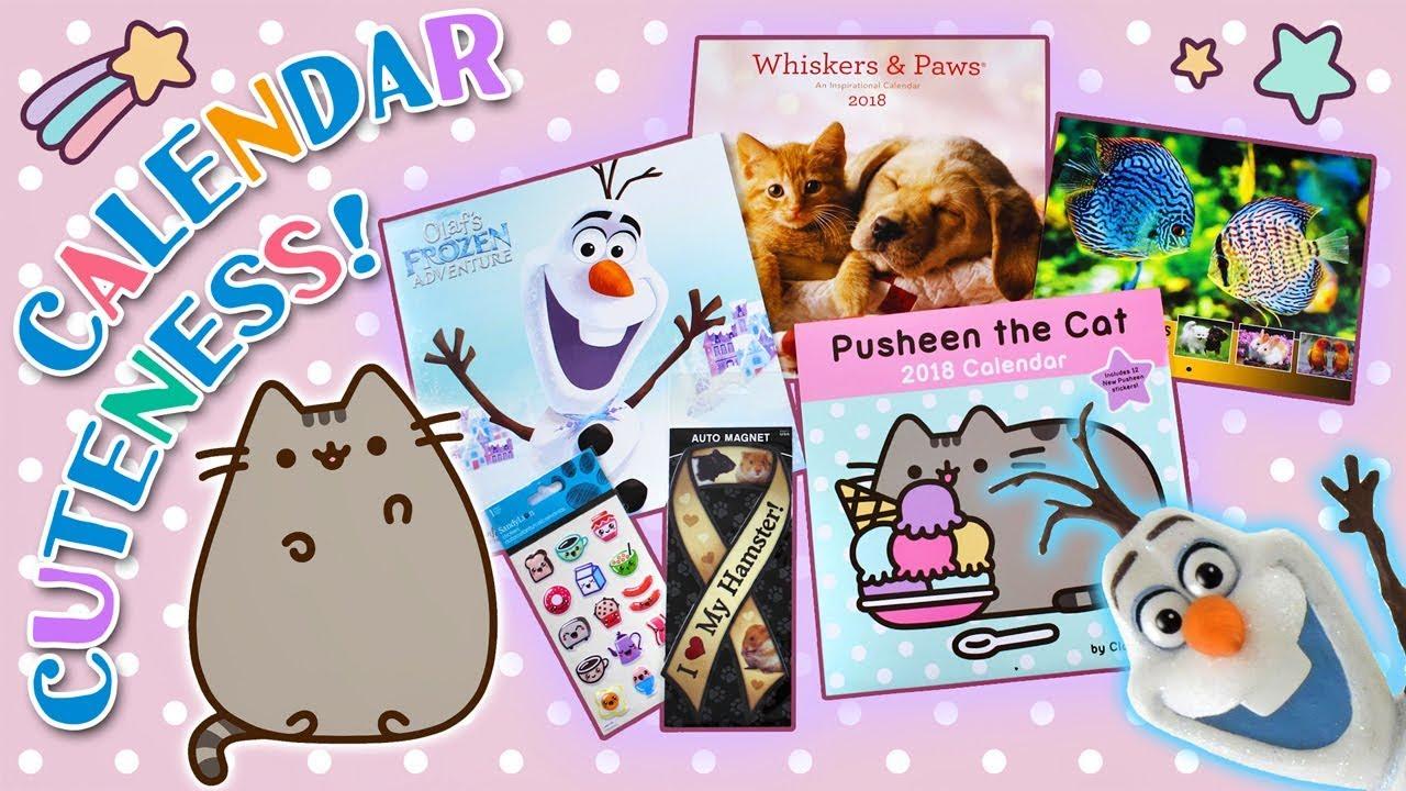 new cute 2018 calendars pusheen frozen animal