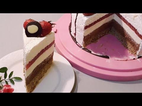 Mus Cokoladna Torta /Mousse Cake - Chocolate Mousse/coconut Mousse - Recipe