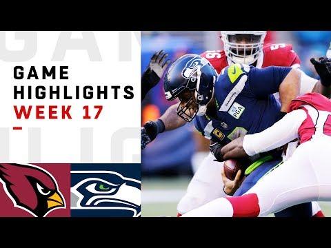 Cardinals vs. Seahawks Week 17 Highlights | NFL 2018