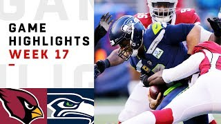 Cardinals vs. Seahawks Week 17 Highlights | NFL 2018