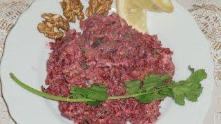 Салат из свеклы с сыром, изюмом и грецкими орехами