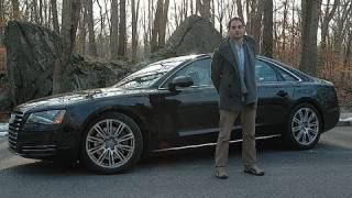 Roadfly.com - 2011 Audi A8 Road Test & Review(Audi redesigned their top of the line sport sedan for 2011. The new Audi A8 has redesigned sheet metal and a more pronounced fascia on the outside and the ..., 2011-01-19T18:42:16.000Z)