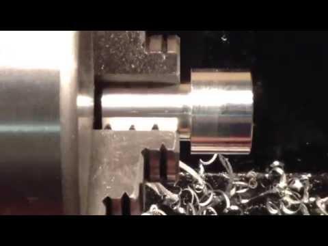 Making a small aluminium part on the mini lathe