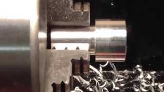 Making a small aluminium part on the mini lathe
