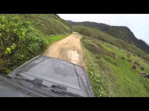 OffRoading at the Lost Coast in a Toyota Land Cruiser.