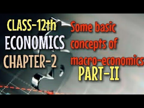 CLASS 12 (ECO) CHATER-2 Some basic concept of macro economics part II