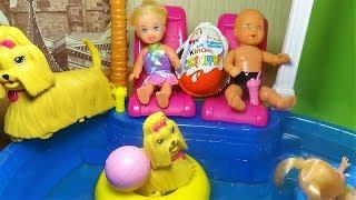 Катя и Макс. Макс выгнал детей из бассейна. Мультик.