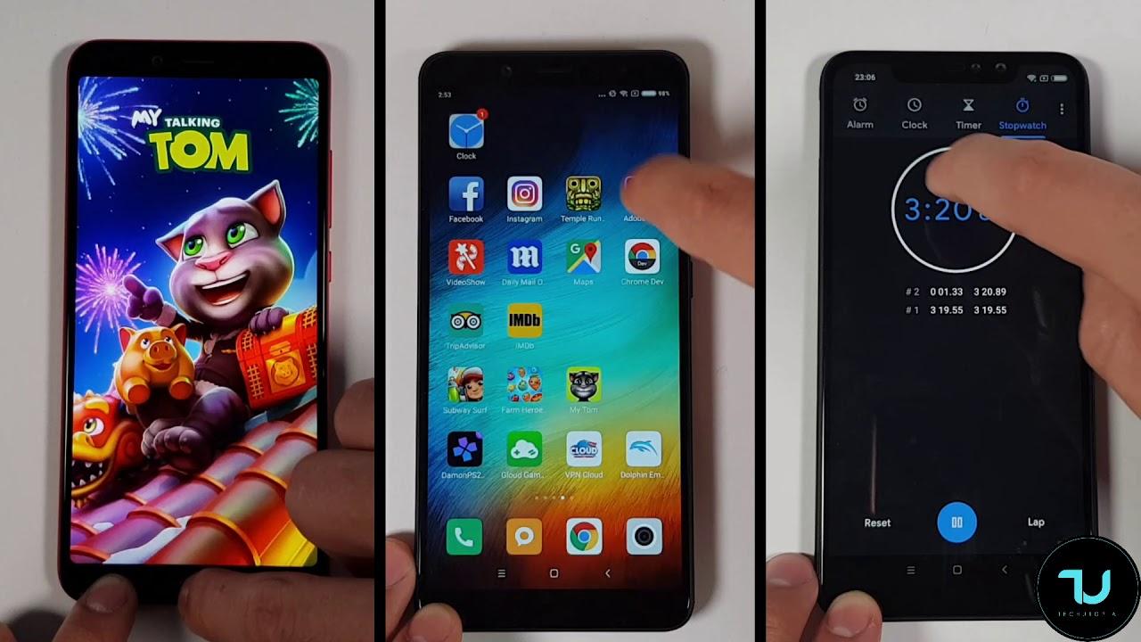 Xiaomi Mi A2 Vs Redmi Note 6 Pro Vs Redmi Note 5 Speed