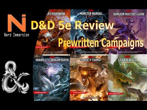 D&D 5e Pre-Written Campaigns Review | Nerd Immersion