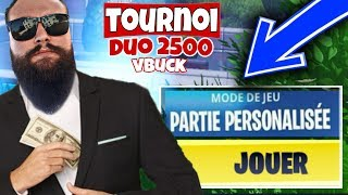 Personal Part 2400 vbuck to win TOURNOI duo [ Live Fortnite en ]