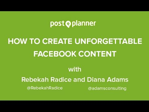 How to Create UNFORGETTABLE Facebook Content