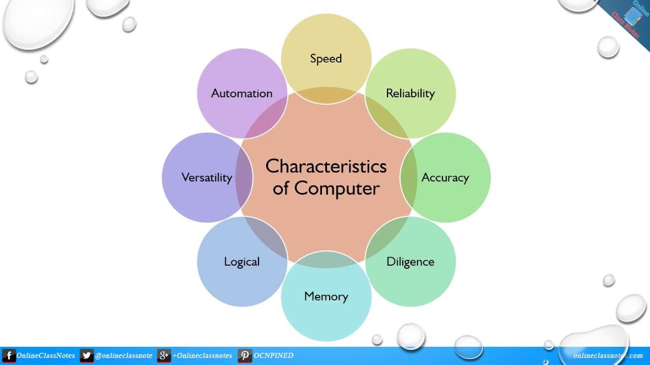 10 characteristics of computer system
