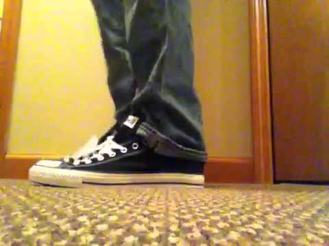 On Feet  Black Low Chuck Taylor s - YouTube e74d490bf1cf