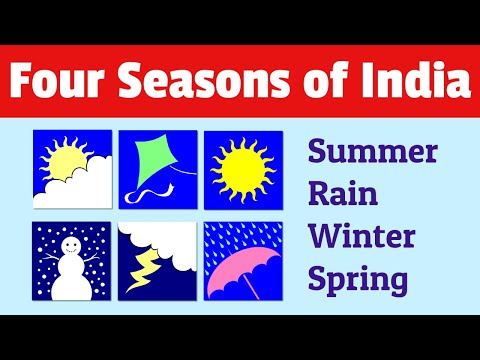 Four Seasons Of India For Kids | Essay In A Video
