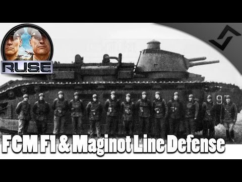 FCM F1 & Maginot Line Defense - R.U.S.E. Operations Gameplay 1vsAll French Defense