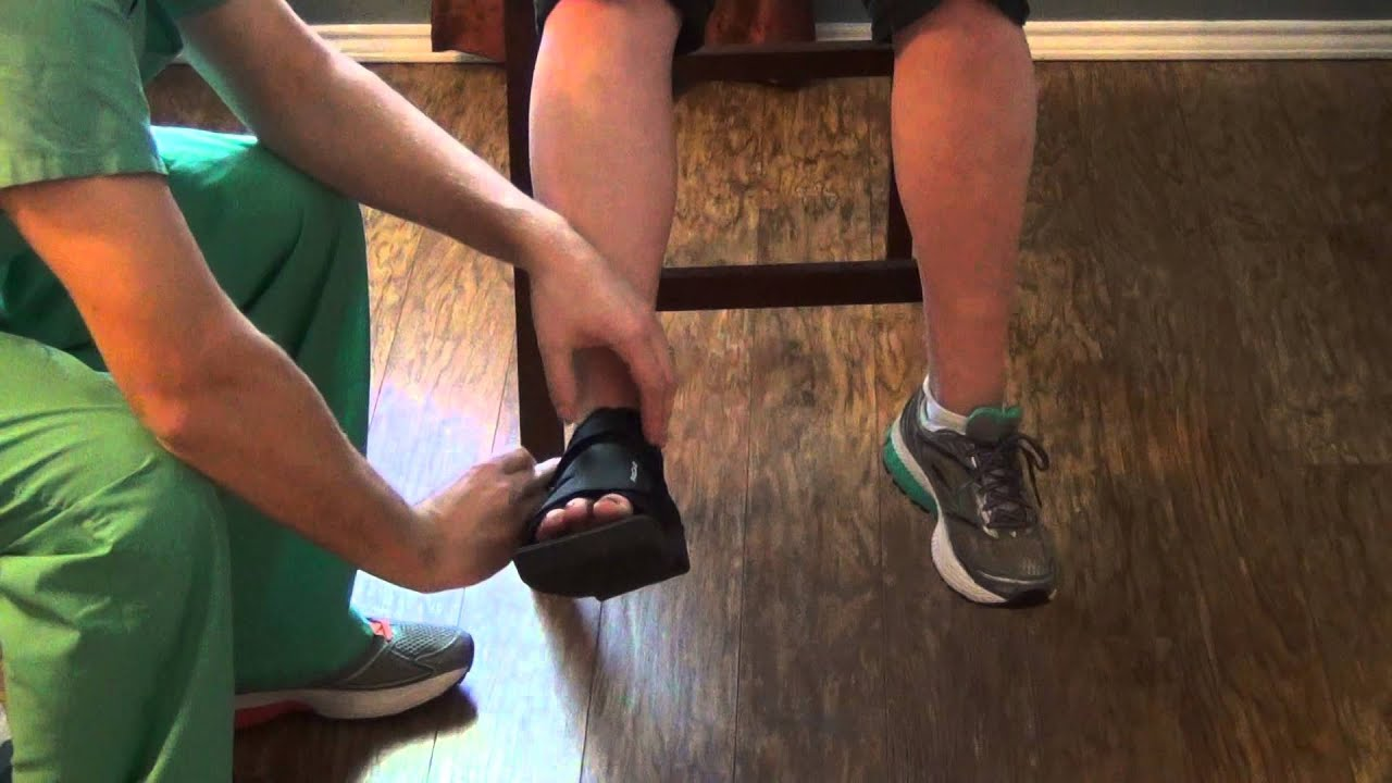 39694d5c933 Post op shoe and offloading shoe - YouTube