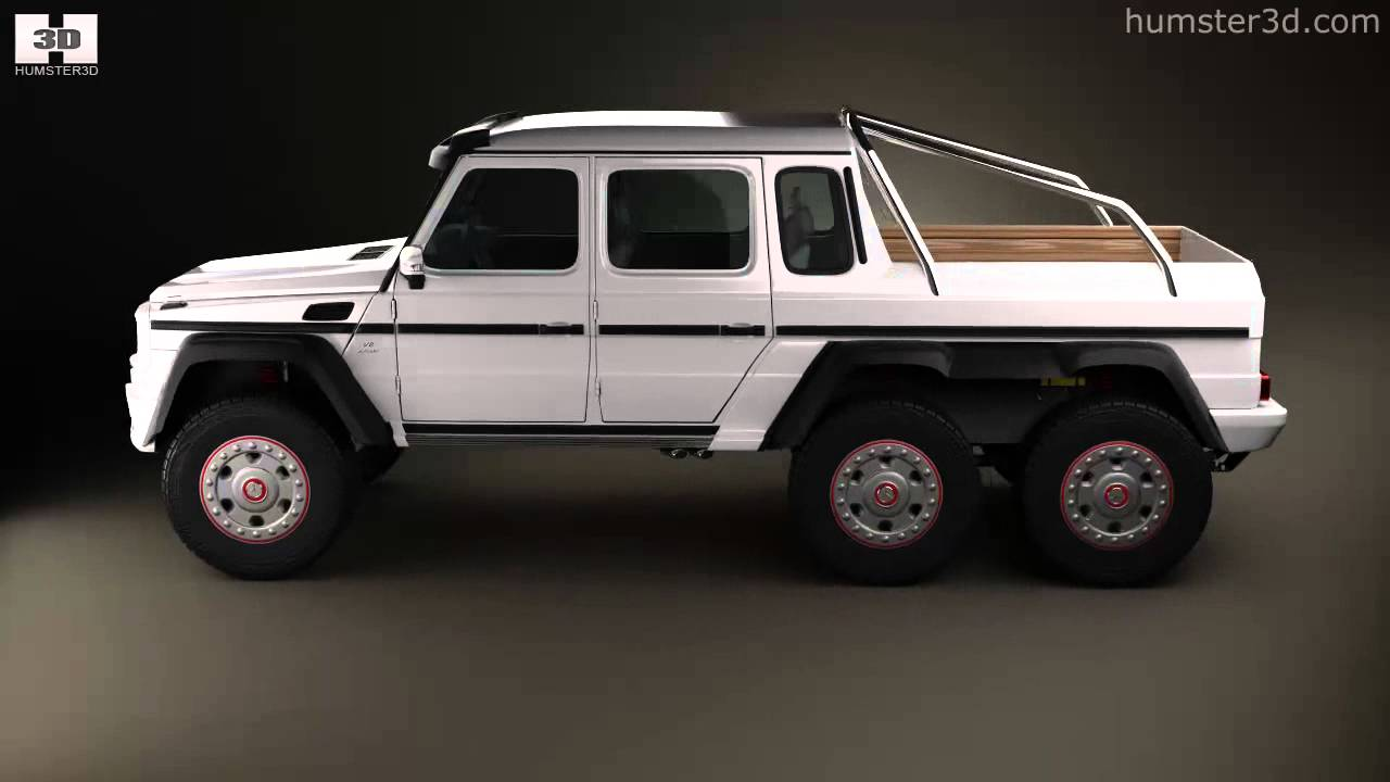 Mercedes benz g class 6x6 amg 2013 by 3d model store youtube - Classe g 6x6 ...