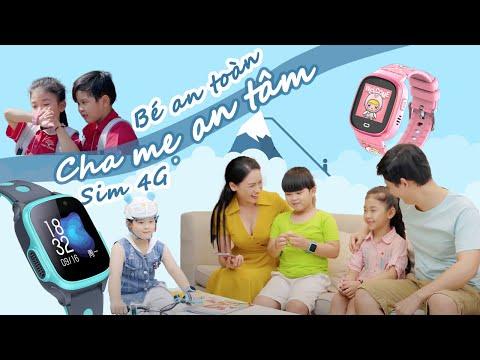 Đồng hồ thông minh định vị trẻ em CAO CẤP 4G: bé an toàn, ba mẹ yên tâm