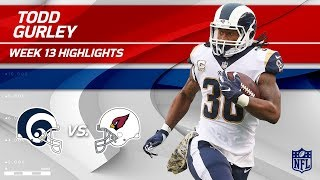 Todd Gurley's Great Game w/ 158 Total Yards vs. Arizona! | Rams vs. Cardinals | Wk 13 Player HLs
