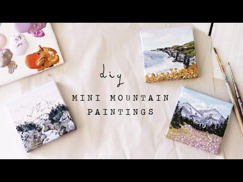 diy mini mountain paintings
