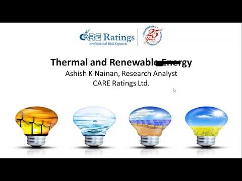CARE Ratings live Webinar on Power Sector - Thermal and Renewable Energy - 21st July 2017