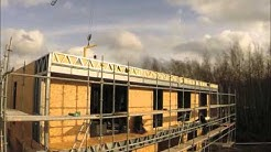 Construction of 2 light steel frame houses in 10 days - Time lapse construction