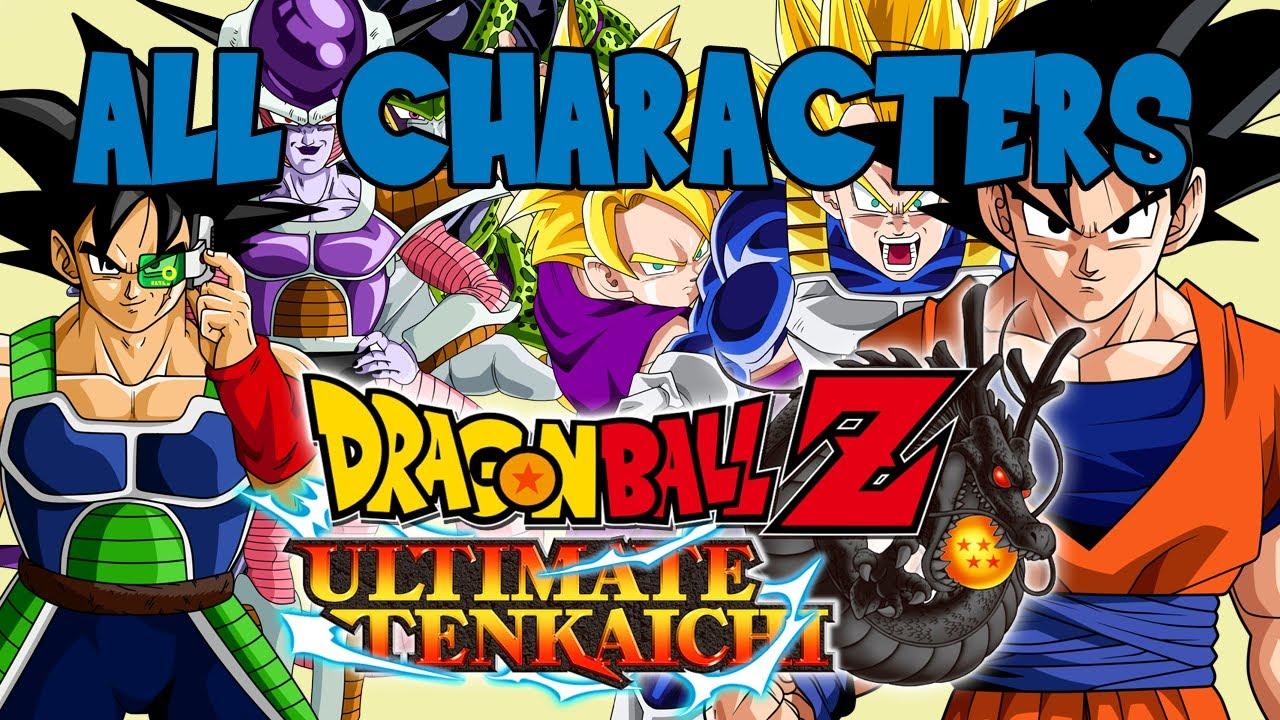 Dragon Ball Z Ultimate Tenkaichi  All Characters In Select Screen