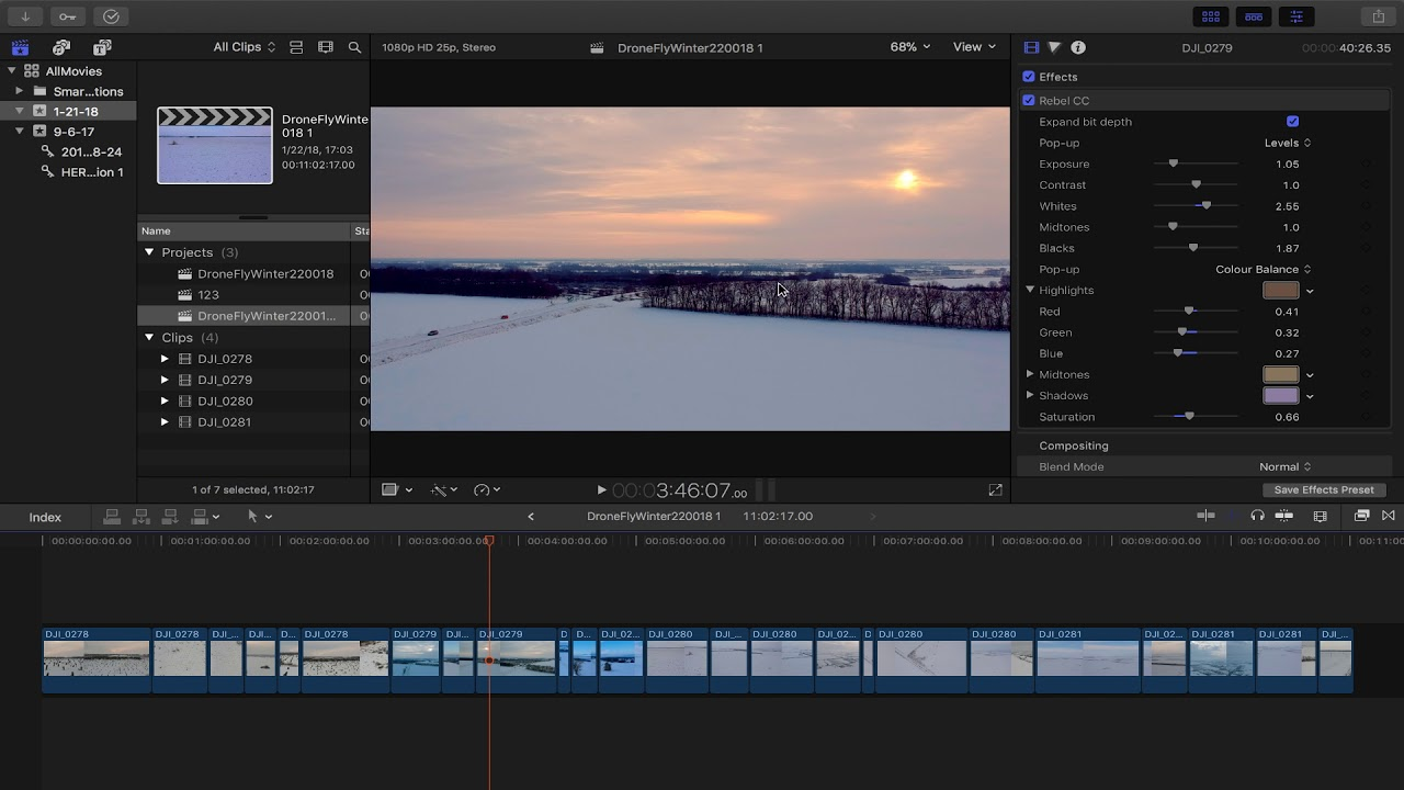 Final Cut Pro X: How to change frame rate in EXISTING project - YouTube