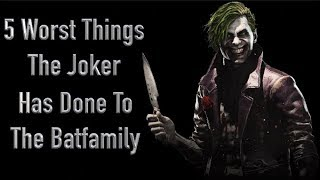 5 Worst Things The Joker Has Done To The Batfamily