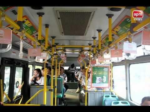 Ads inside HaNoi public Bus.avi
