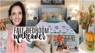 FALL BEDROOM MAKEOVER 2019 | DOLLAR TREE DECOR!