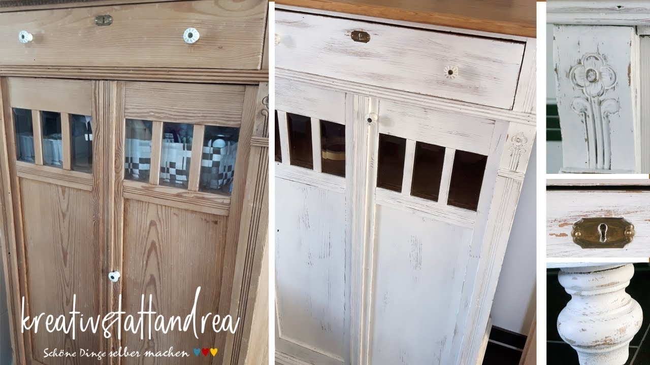 Küche Mit Kreidefarbe Streichen Diy Shabby Chic Painting Old Furniture With Chalk Paint