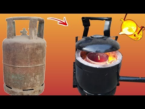 How to Make a Simple Metal Foundry Using Empty Gas Cylinder