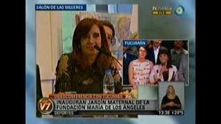 Cristina Fernández inauguró un jardín maternal de la Fundación
