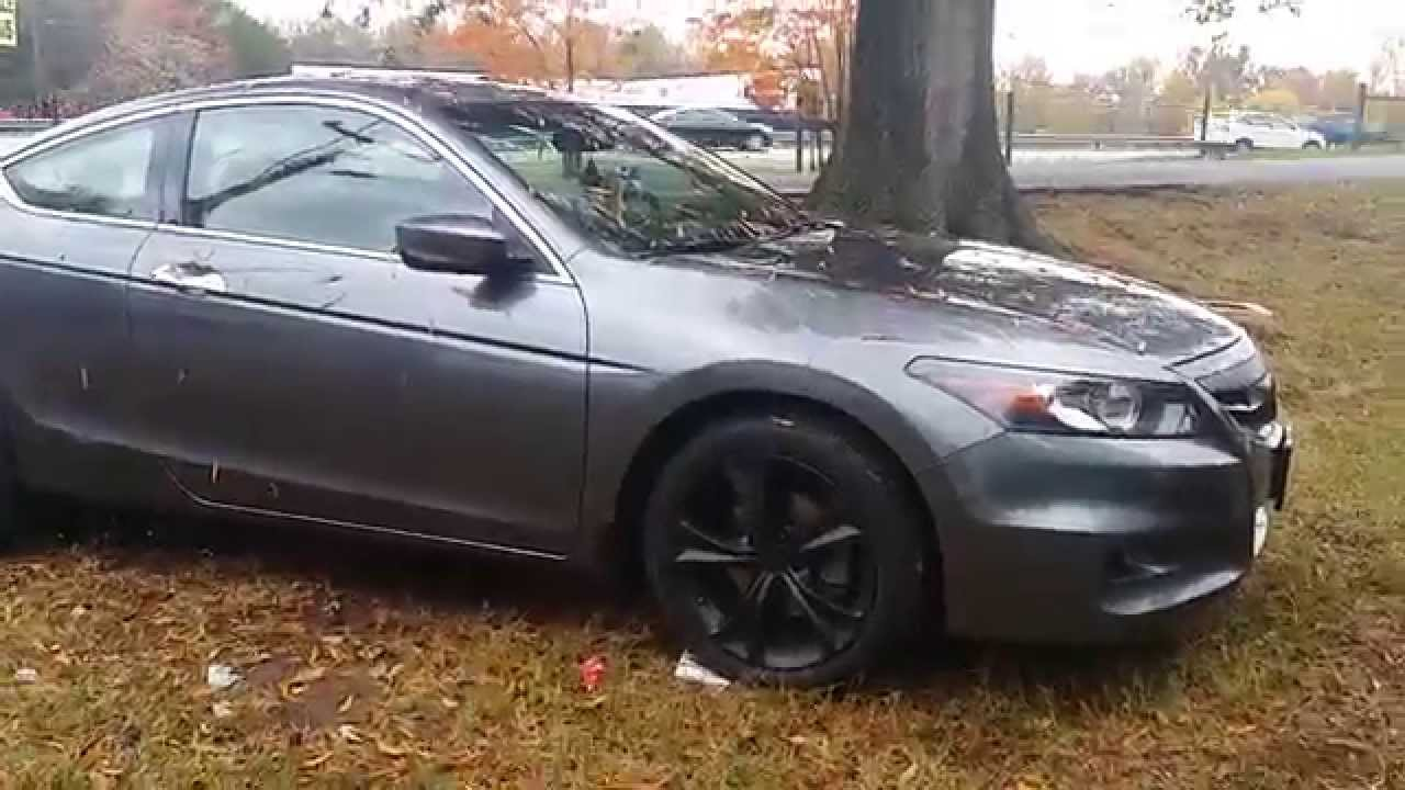 Honda accord coupe 2011 plasti dip - YouTube