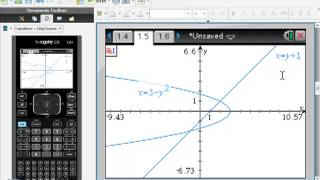 Ti-Nspire CAS Graphing f(y) instead of f(x)
