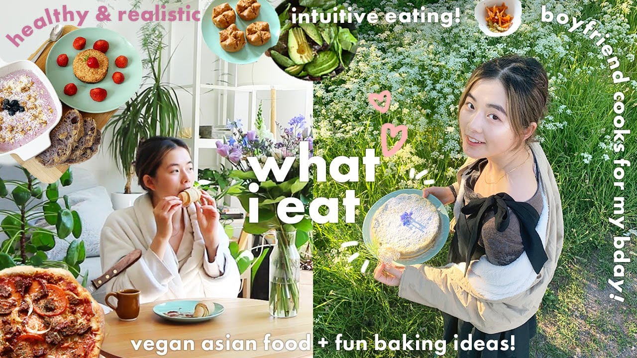 what i eat in a WEEK🍜vegan asian food & home baking! ft period remedies & a surprise bday picnic🧺