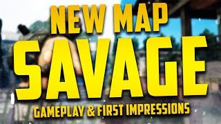 *NEW* PUBG Map 'SAVAGE' - Gameplay & First Impressions!