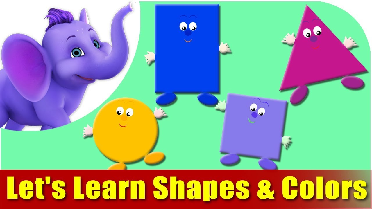 let u0027s learn shapes u0026 colors preschool learning youtube